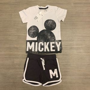Mickey Mouse Baby Boy Shirt/Short Outfit